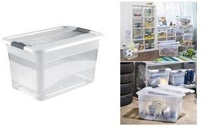 OKT Aufbewahrungsbox Kristall-Box, 52 Liter, transparent