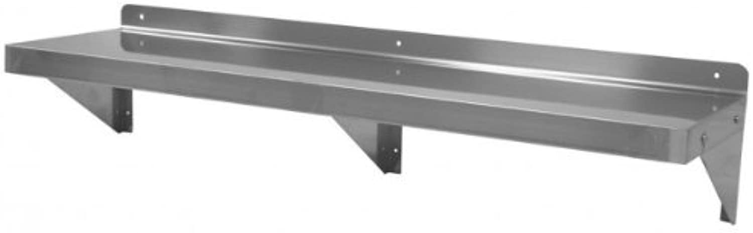 GSW Stainless Steel Commercial Wall Mount Shelf 14 (Depth) x 48 (Width) NSF Approved