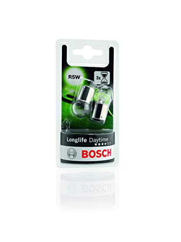 Lámparas Bosch para vehículos Longlife Daytime R5W 12V 5W BA15s (Lámpara x2)