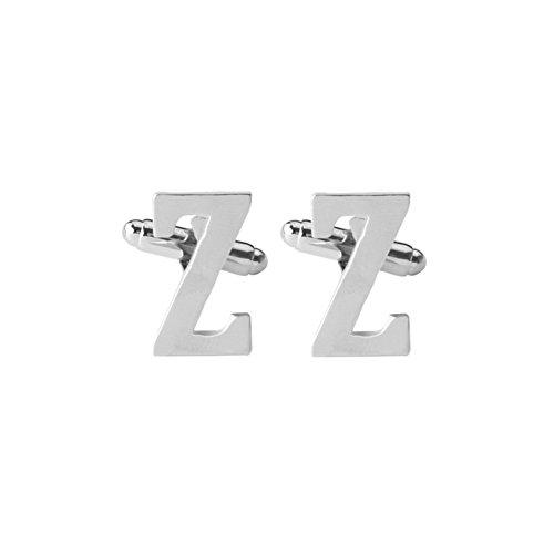 MIJI Herren-Manschettenknöpfe – Klassische Buchstaben, formelle Hochzeit, Business-Geschenk, Herren-Manschetten A-Z (1 Paar)