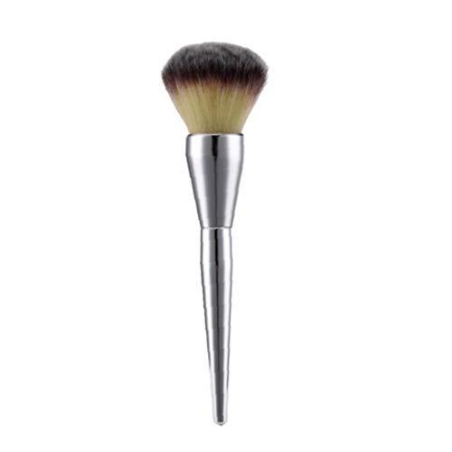 Pinceau Poudre Pinceaux fard à joues Fondation ronde Make Up Grand cosmétiques Maquillage visage doux Brosses Argent