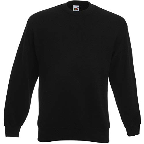 Fruit of the Loom Herren 62-202-0 Sweatshirt, Schwarz, L