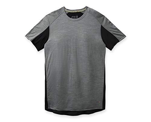 Smartwool Men's Sport 150 Mountain Biking Short Sleeve T-Shirt Regular Fit Medium Gray Heather, Medium