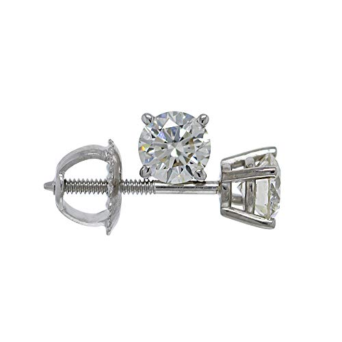 New World Diamonds IGI Certified 0.75 Carat Lab-Grown I-J Diamond Stud Earrings 14kt White Gold VS2-SI1 Clarity