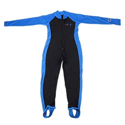 Tubayia Traje de baño para niños y jóvenes, protección UV, de manga larga, traje de baño de neopreno, para deportes acuáticos y natación