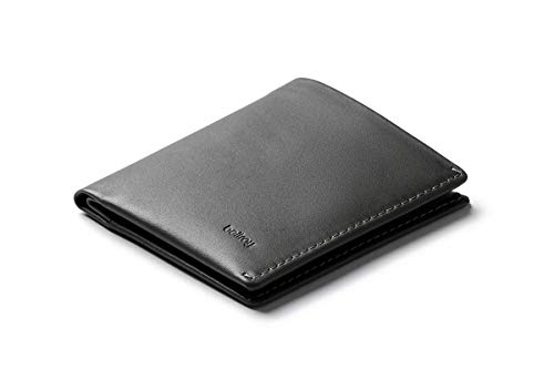 Bellroy Note Sleeve - スリムなレザー財布、RFID保護対応あり(カード最大11枚、紙幣、小銭を収納可能)- Charcoal - RFID