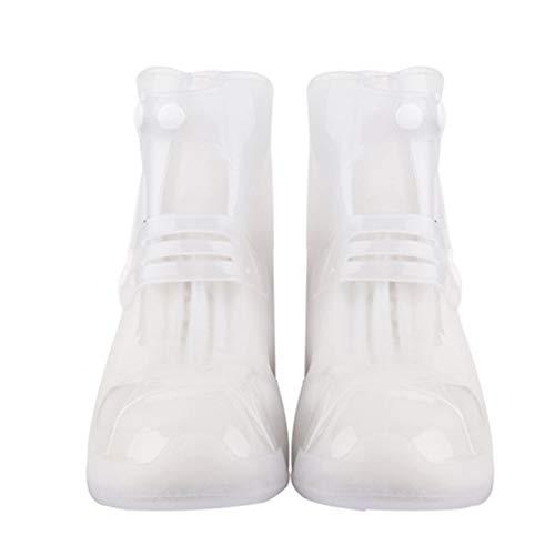 quanjucheer Regenschuhe Stiefel Überzug Hoch-Top Anti-Rutsch Überschuhe Wasserdicht Schutz weiß weiß XXX-Large