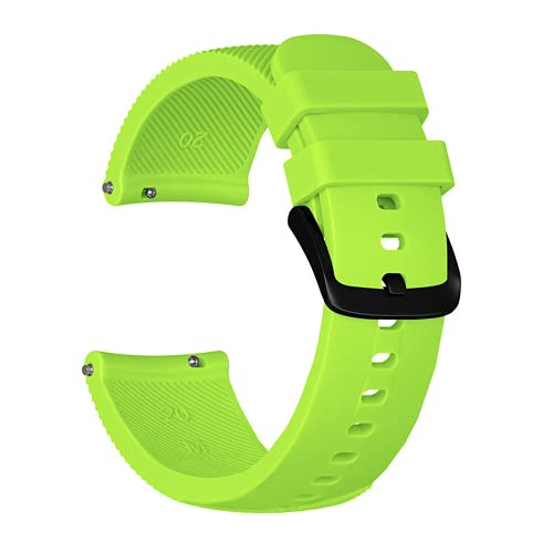 G-RF Bandas De Repuesto para Samsung Gear Sport Rayas De Silicona Correa (Verde)