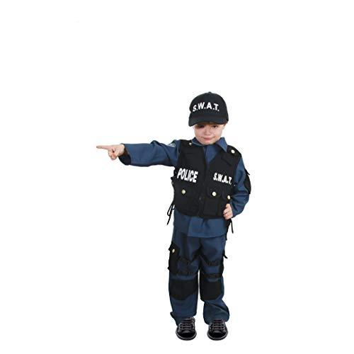 Chaks C4086116, Déguisement Agent SWAT 4-6 ans