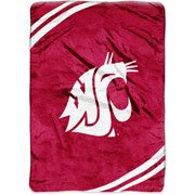 NCAA 60' x 80' Royal Plush Raschel Throw, Washington State University