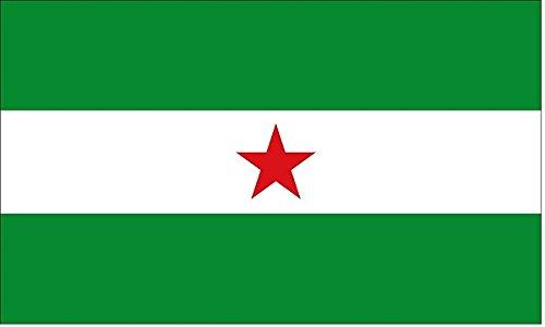 DURABOL Bandera de Andalucía con estralla andaluz flag Andalucistas 90x150cm SATIN