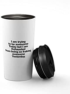 Loud Universe Just Have A Little Faith Beverage Tumbler With Black Sip Lid, White
