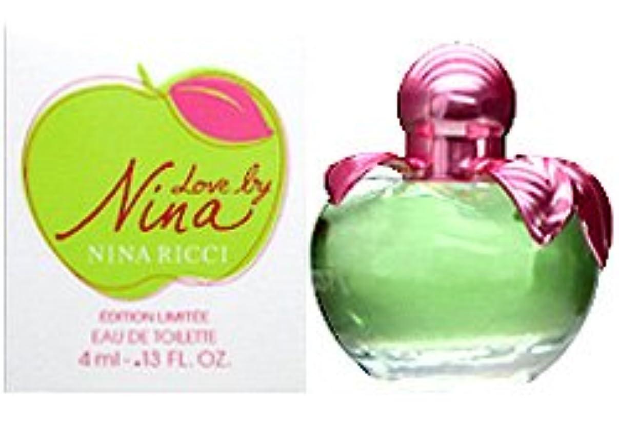 確立しますにはまって今ニナリッチ ラブバイニナ ミニ香水 EDT4ml NINA RICCI [並行輸入品]
