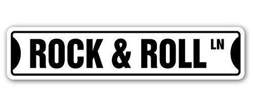 aqf527907 Grappig Teken Gift Rock & Roll Straat Teken Gift Fame Muziek Band Gitaar Muzikant Ster Op Dans Spelen Outdoor Metaal Aluminium Teken Wandplaat Decoratie
