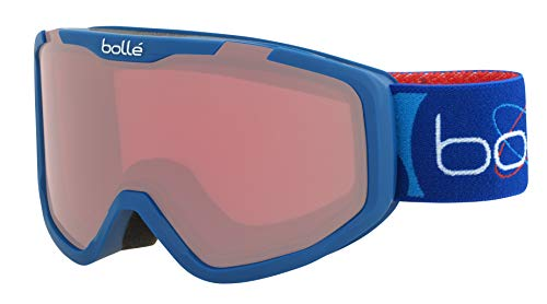 bollé Rocket Gafas de Ski Juventud Unisex Small, Blue Aerospace Matte/Vermillon Cat.2