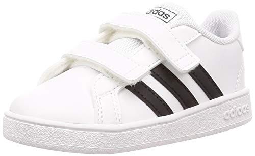 adidas Grand Court I, Zapatillas de Estar por casa, Blanco Ftwbla Negbás Ftwbla 000, 25 EU