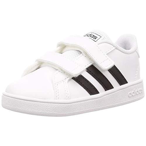 adidas Grand Court I, Scarpe da Ginnastica Unisex-Bambini, Ftwr White/Core Black/Ftwr White, 21 EU
