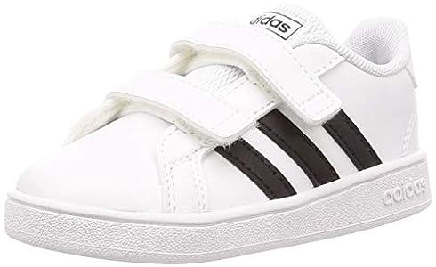 adidas Grand Court I, Zapatillas de Estar por casa, Blanco (Ftwbla/Negbás/Ftwbla 000), 26 EU