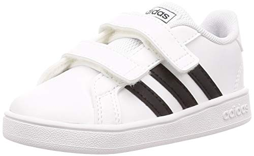 adidas Grand Court I, Zapatillas de Estar por casa, Blanco Ftwbla Negbás...