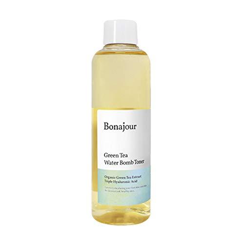 [BONAJOUR] Vegan beauty Organic Green Tea & Hyaluronic Acid Facial Toner for dry skin - Vegan Cosmetics, 100% Pure Natural Moisturizer & High Moisture Type, Anti Aging, Anti Wrinkle, 7.2 fl. oz