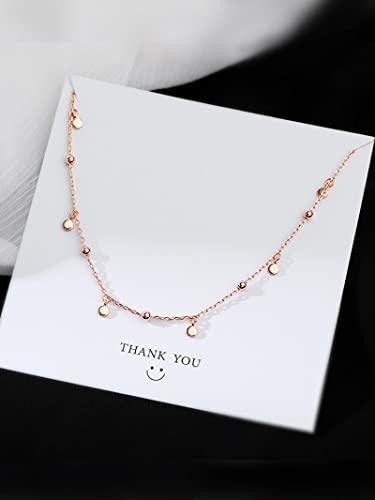 Collares Joyería Colgantes Gargantilla Collares para Mujer Plata De Ley 925 Geométricos Irregulares Collares Redondos Cadena De Clavícula Lindos Acces