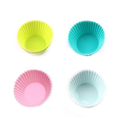 Muffinform Silikon Mini Muffin Förmchen Antihaftbeschichtung Farben von Cupcake Formen Muffinförmchen Set Wiederverwendbare Silikonformen für Muffins für DIY Küche Familienaktivitäten 16 Stücke