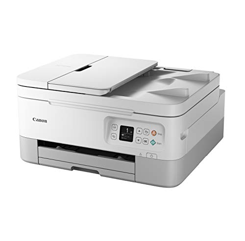 Canon PIXMA TS7451 Farbtintenstrahldrucker Multifunktionsdrucker DIN A4 (Scanner, Kopierer, Fotodrucker, OLED, 4.800 x 1.200 DPI, USB, WLAN, Print App, Duplexdruck, 2 Papierzuführungen), weiß