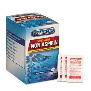 PhysiciansCare Pain Relievers/Medicines, Xstrength Non-Aspirin Acetaminophen, 2/Packet, 125 Pk/Bx