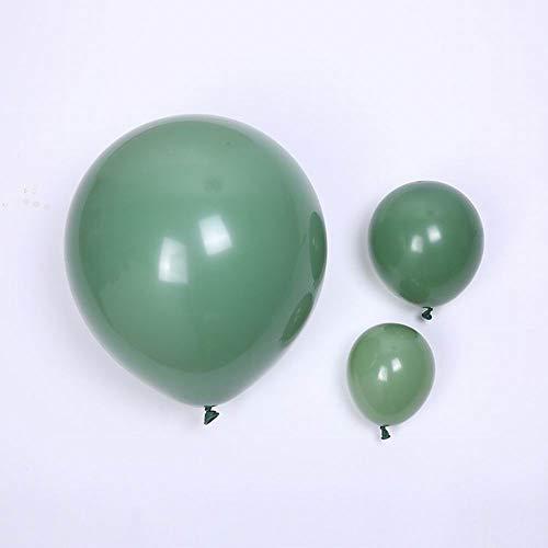 50pcs Retro Sage Green Latex Balloons 18'' 10'' 5'' Avocado Green Balloon for Birthday Wedding Baby Shower Anniversary Decoration Jungle Safari Party Balloon Garland Supplies (sage green)