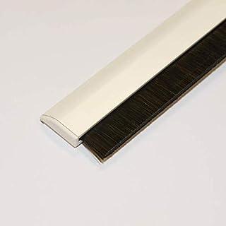 CONFORTEX 12011 Bas Porte Adh. Aluminium Avec Brosse Rétractable, Blanc,  100cm X 0