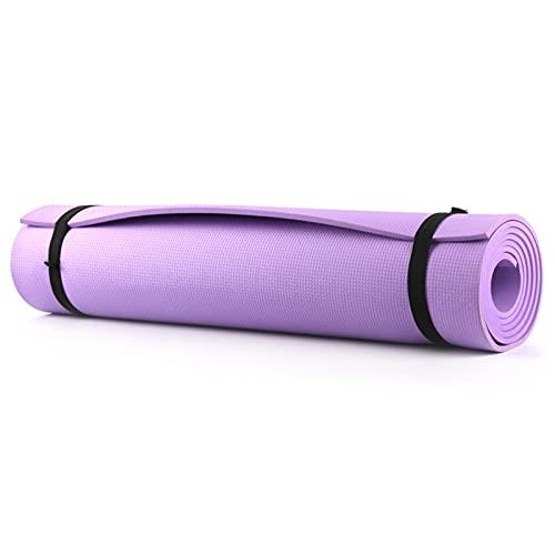 TYUTYU Alfombra de Yoga Alfombra Alfombra Alfombra Pilates Gimnasio Deportes Ejercicio Estera Aptitud Gimnasia Alfombrillas Material EVA Mats Yoga Matt (Color : Purple 6mm)
