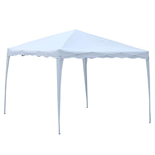 Greensen Pop Up Gazebo 3 x 3 m - Tienda plegable para carpa de jardín al aire libre, impermeable, con bolsa de transporte y cuerdas de tobillo, color blanco