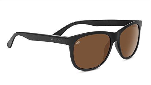 SERENGETI Ostuni Gafas de Sol, Color Negro Brillante, tamaño Medium