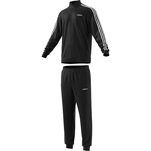 adidas Mens MTS Co Relax Tracksuit, Black/Black/White, XL
