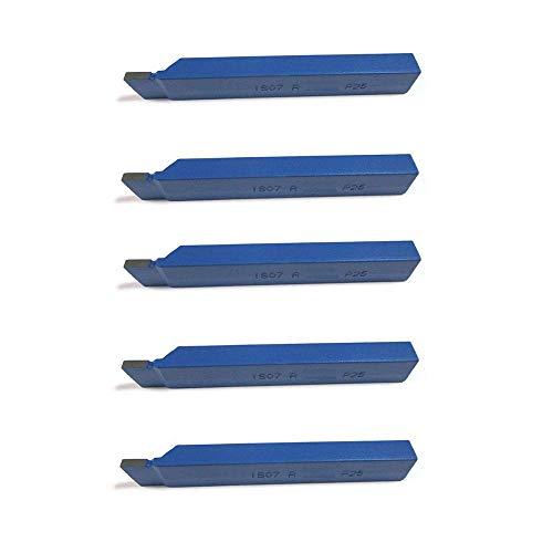 5 Stück Drehstahl 8 x 8 mm - Stech Drehmeißel mit Hartmetall - Qualität für Stahl - DIN4981