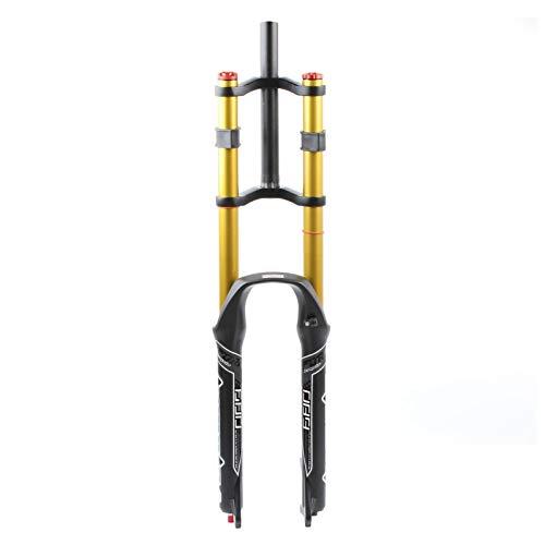 aiNPCde MTB DH Horquilla Delantera Bicicleta 26 27.5 29 Pulgadas, Tubo Recto Cuesta Abajo Hombro Doble Horquilla de Suspensión Bici Aire Ultraligero Amortiguador (Color : 26 Inch)