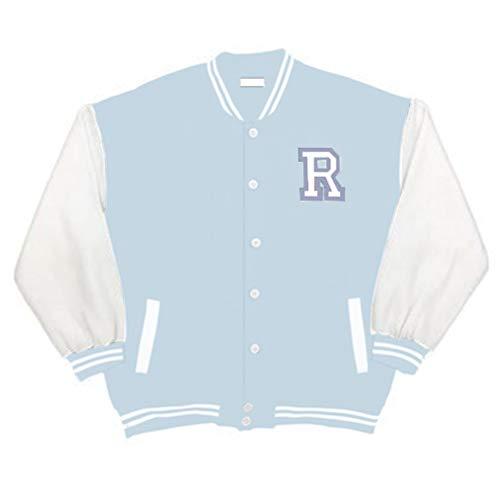 Shownicer Herren Jacken College Cargo Winterparka Jacke Baseball Sportjacke Sweatjacke Unisex Patchwork Hoodies Mode Streetwear