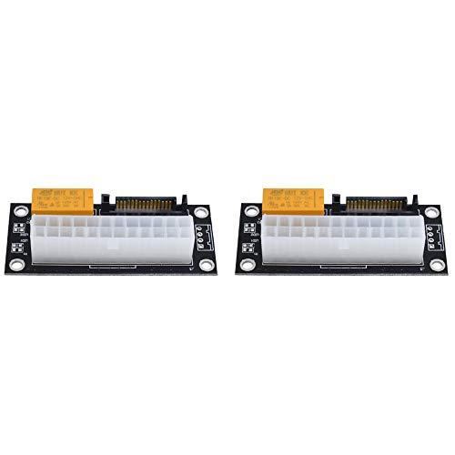 Mogzank 2 unids fuente de alimentación dual PSU sincronización Add2Psu ATX 24Pin a SATA Molex conector síncrono cable elevador minero minero