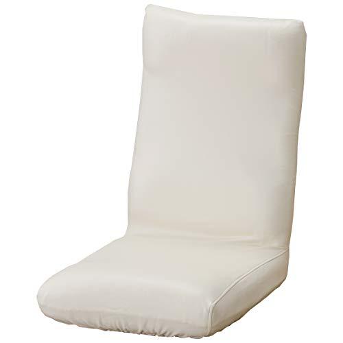 セシール ソファカバー アイボリー 座椅子カバーL レザー調ストレッチ 座椅子用 CT-552