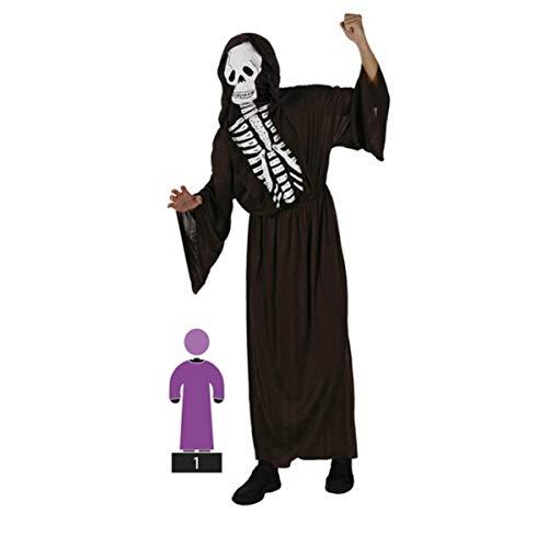Cisne 2013, S.L. Disfraz para Halloween de Hombre Esqueleto Color Negro Talla M-L. Talla Unica Adulto. Cosplay Halloween Adulto Esqueleto