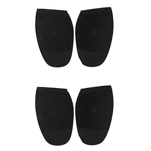 P Prettyia 2 Paar Schuhbedarf Gummisohlen Halbsohlen zur Reparatur von Schuhsohlen, 180x120x1,5 mm