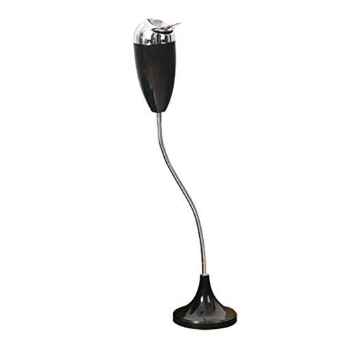 Frjjthchy Creative Curvable Floor Standing Ashtray with Windproof Lid Cigar Ashtray (Black)