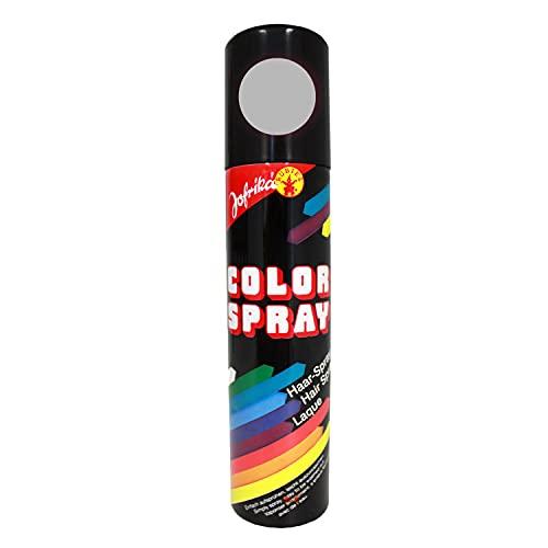 NET TOYS Laque Couleur argentée - Spray pour cheveu - colorspray - Coloration des Cheveux - Spray de Couleur - Spray pour Cheveux de Carnaval - Colorsprays - colorations des Cheveux