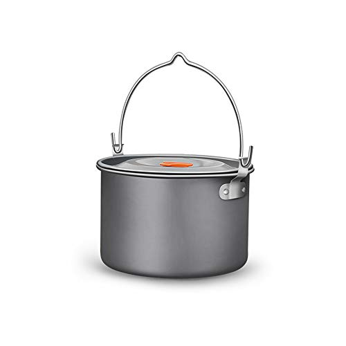 Outdoor Camping Picnic, Opknoping Pot Duurzame Portable Kampvuur Picnic Pot voor Camping Vissen Picnic
