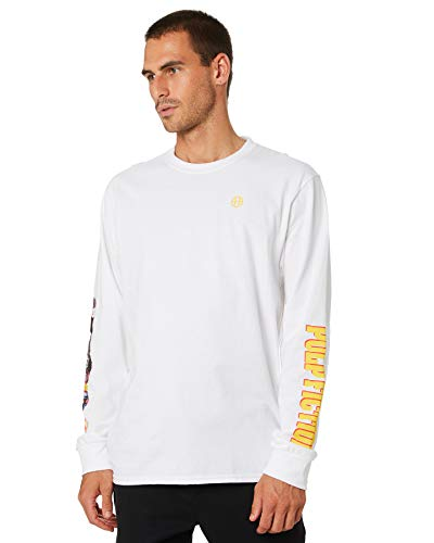 HUF Collage Longsleeve-White - S