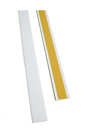 BawiTec PVC-Kunststoffleiste Abdeckleiste selbstklebend 40mm 300cm weiß Kunststoff
