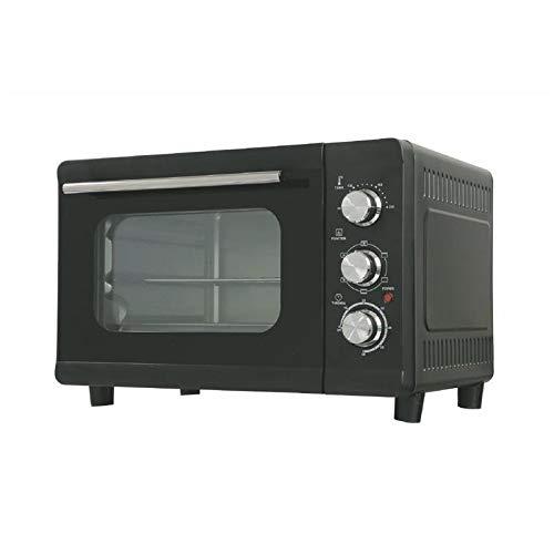 Kooper Horno ventilado de 32 litros, negro, 1380 W, eléctrico, 32 l, acero