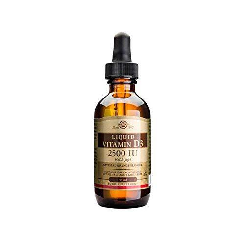 Solgar - Líquido Vitamina D3 Natural Laranja Sabor 5000 IU - 2 fl. oz.
