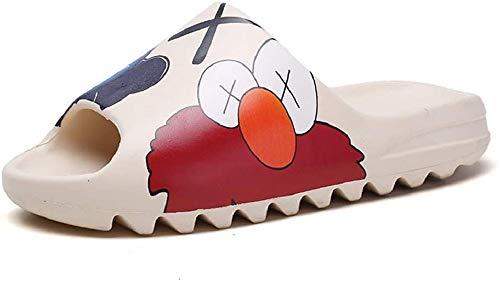 SITAILI Almohada Diapositivas Zapatillas Sandalias Super Suaves De Secado Rápido, Hombres Mujeres Zapatos De Casa De Verano para Baño Ducha Interior Al Aire Libre 41 EU Pintura de Dibujos Animados