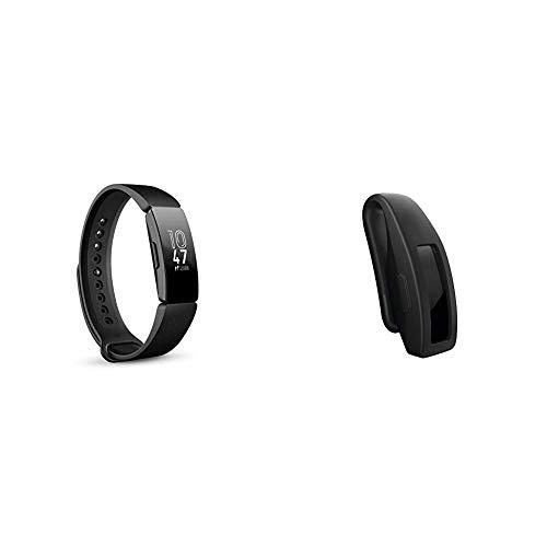 Fitbit Inspire Gesundheits- & Fitness Tracker mit automatischer Trainings Erkennung, 5 Tage Akkulaufzeit, Schlaf- & Schwimm-Tracking, Schwarz & Inspire Clip